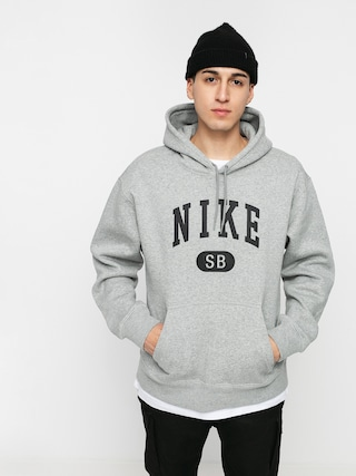 Mikina s kapucí Nike SB Collegiate HD (dk grey heather/black)