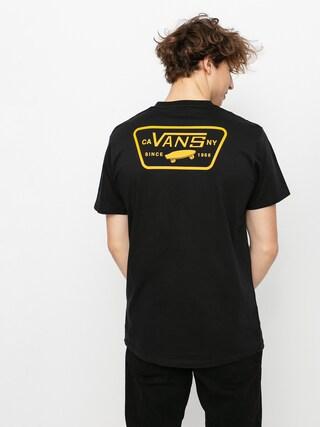 Tričko Vans Full Patch Back (black/saffron)