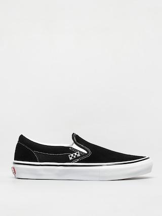 Boty Vans Skate Slip On (black/white)