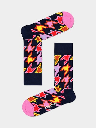 Ponožky Happy Socks Dog Tooth (black/pink)
