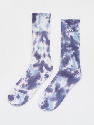 Ponou017eky RVCA Tie Dye Crew Sock (blue)