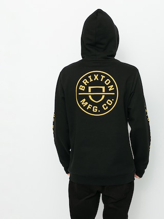 Mikina s kapucu00ed Brixton Crest HD (black)