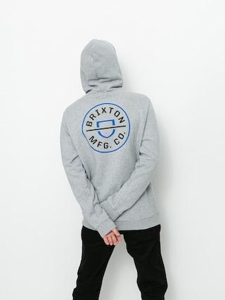 Mikina s kapucí Brixton Crest HD (heather grey)
