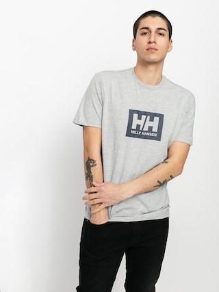 Tričko Helly Hansen Box T (grey melange)