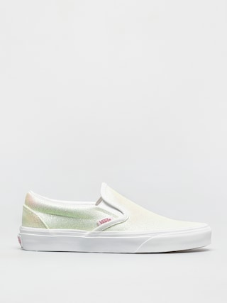 Boty Vans Classic Slip On (uv glitter pink/true white)