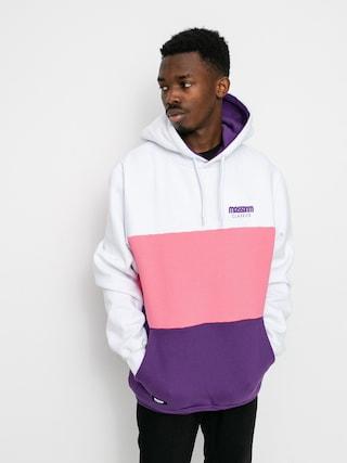 Mikina s kapucu00ed MassDnm Zone HD (white/light pink/purple)