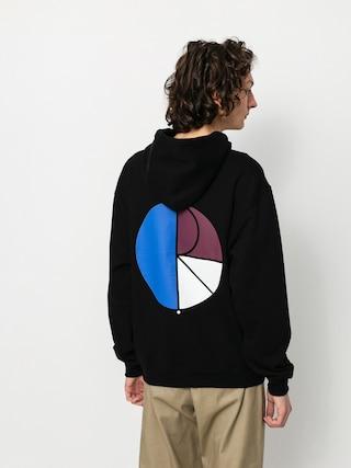 Mikina s kapucí Polar Skate 3 Tone Fill Logo HD (black)