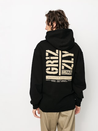Mikina s kapucí Grizzly Griptape Family Ties HD (black)
