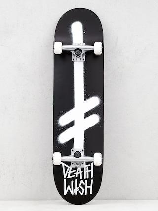 Skateboard Deathwish Gang Logo (black/white)