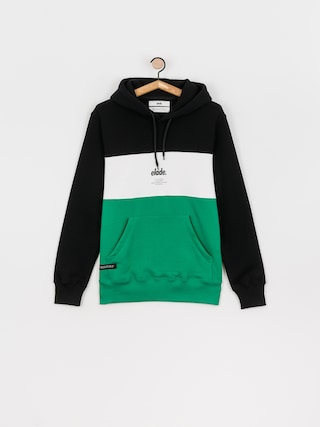 Mikina s kapucu00ed Elade Colour Block HD (black/white/green)
