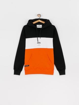 Mikina s kapucu00ed Elade Colour Block HD (black/white/orange)