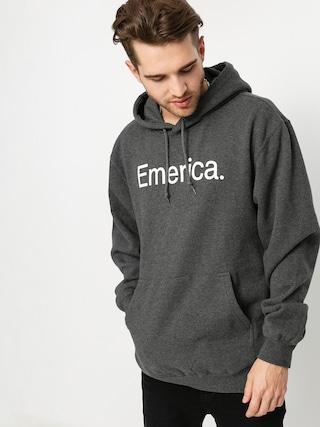Mikina s kapucí Emerica Pure Logo HD (charcoal/heather)