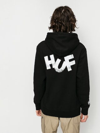 Mikina s kapucí HUF Haze Brush HD (black)