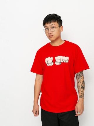 Tričko Toy Machine Fists (red)