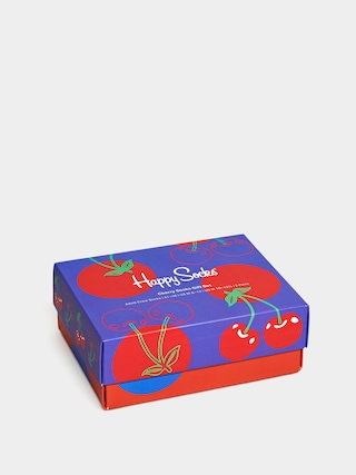 Ponožky Happy Socks Cherriess Gift Set 2Pk (blue/red)