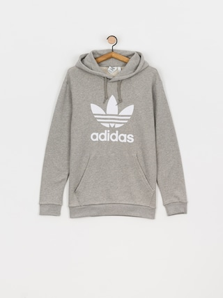Mikina s kapucí adidas Originals Trefoil HD (mgreyh/white)