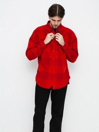Košile Brixton Bowery Lw Flannel Ls (crimson/aurora red)