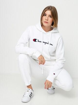 Mikina s kapucí Champion Sweatshirt HD 114461 Wmn (wht)