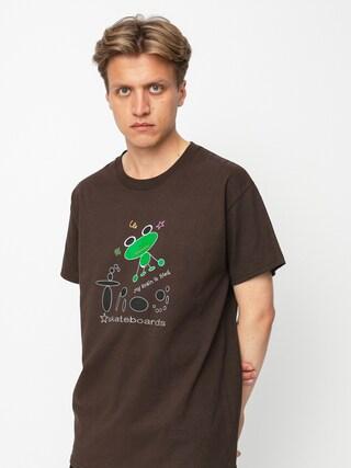 Tričko Frog Skateboards My Brain is Fried (brown)