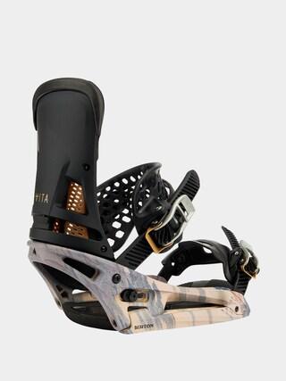 Snowboardová vázání Burton Malavita Est (dark gray/print)