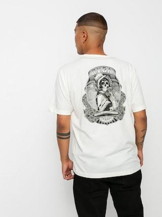 Tričko RVCA Skull Bonnet (antique white)
