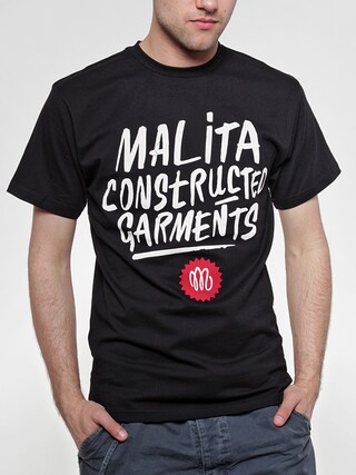 Tričko Malita Constructed Brush (black)
