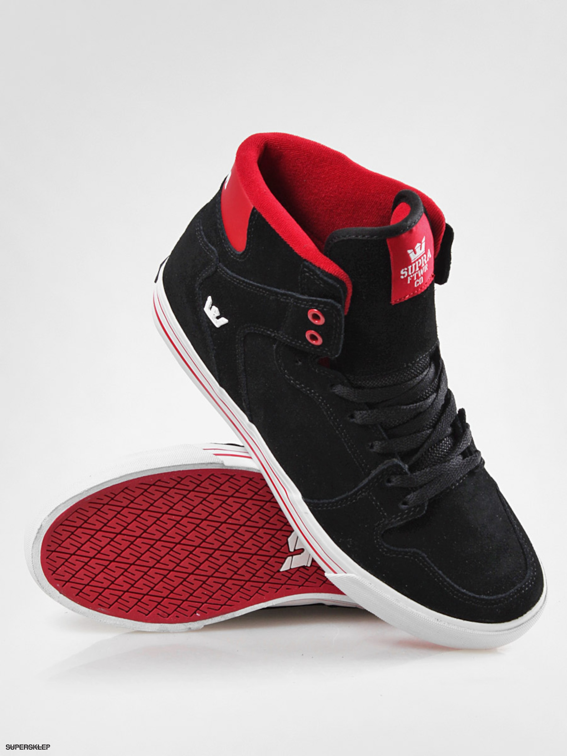 Boty Supra Vaider (black suede formula one red) S28077 aef043d56be