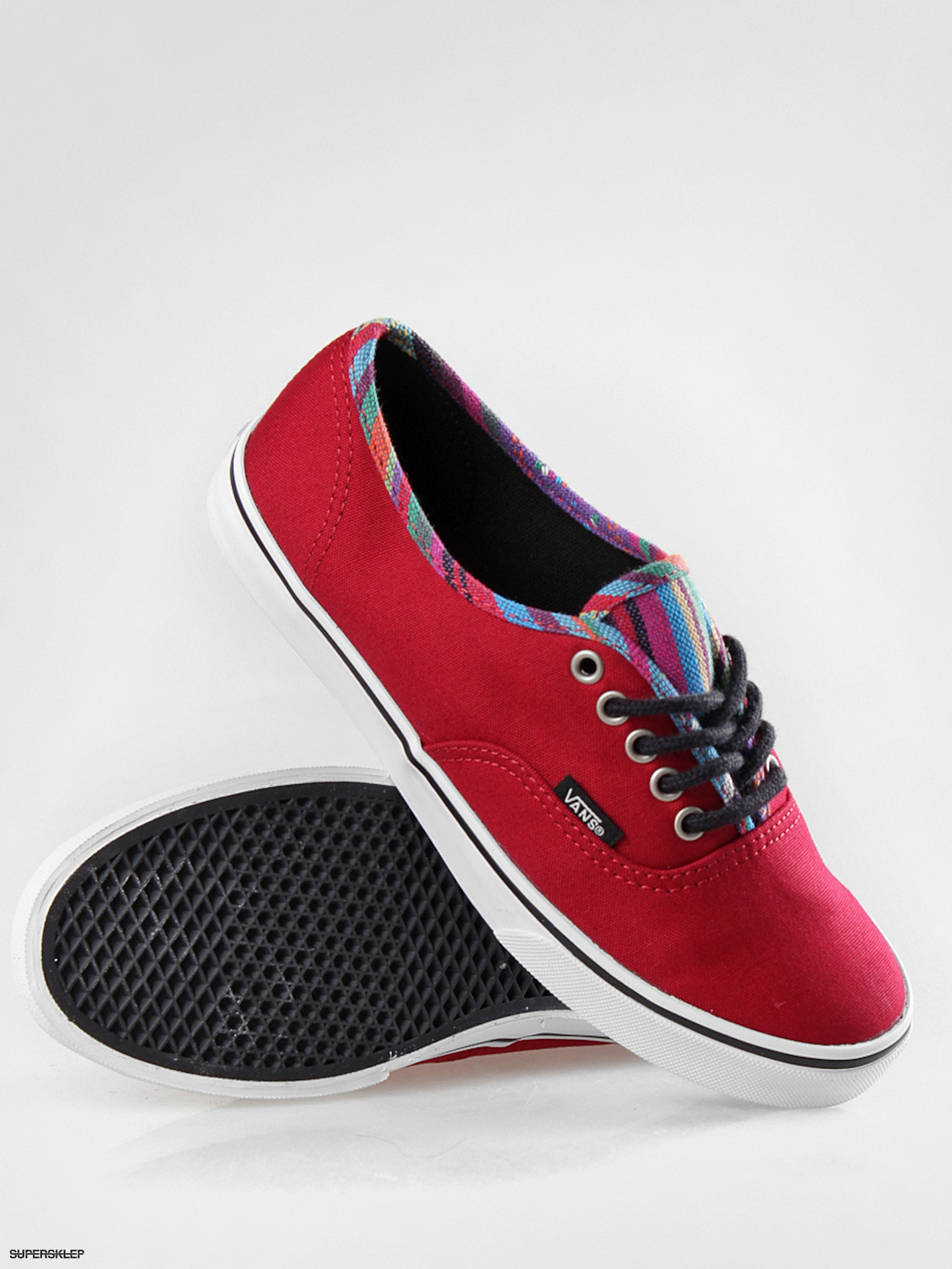 Boty Vans Authentic Lo Pro (stripe binding chili pepper) ef156b792