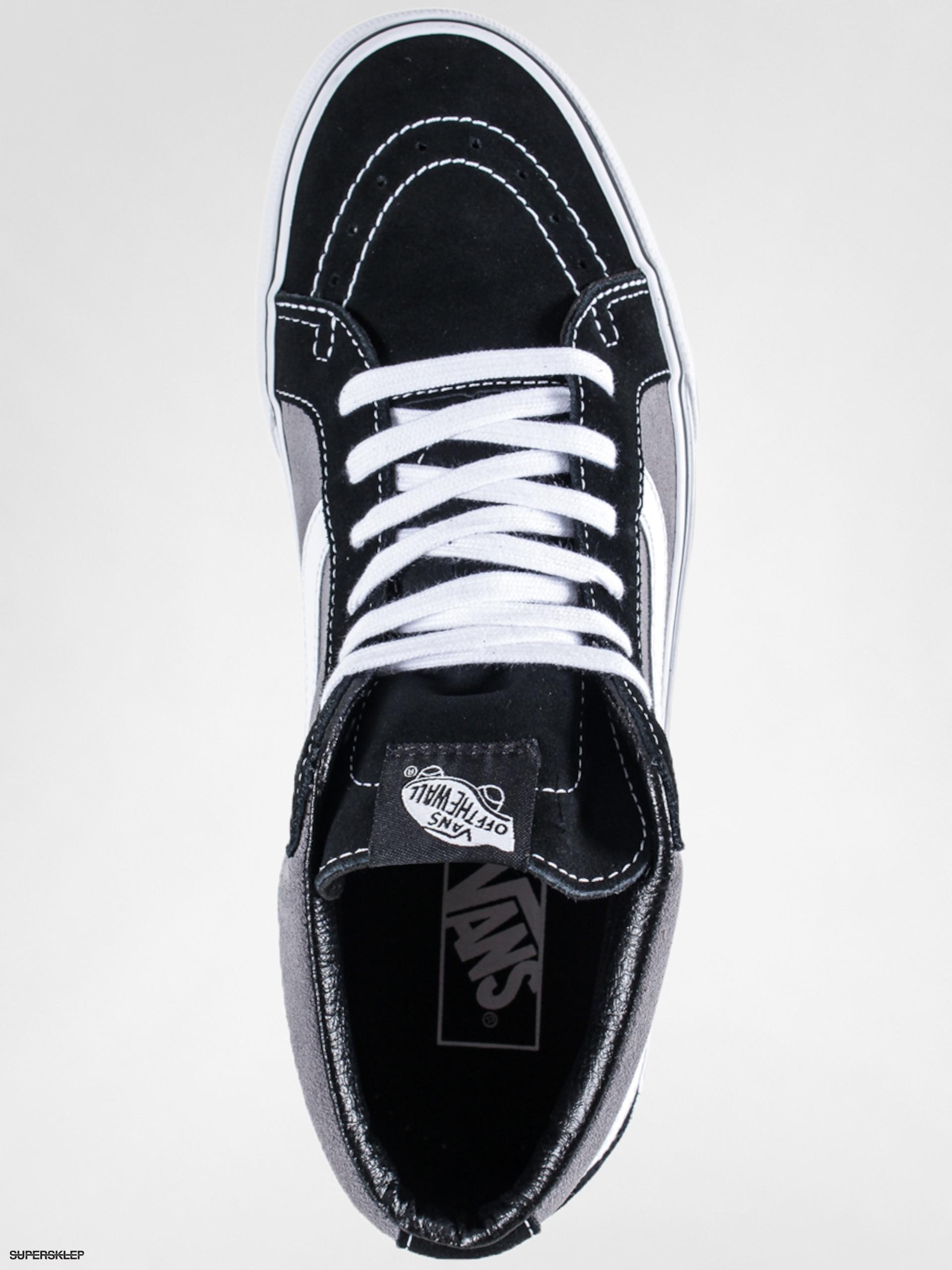14374d1075e949 Boty Vans Sk8 Mid Reissue (suede black frost grey)