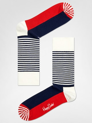 Ponožky Happy Socks Stripe Half (navy/red/white)