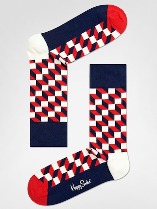 Ponožky Happy Socks Filled Optic (navy/red/white)
