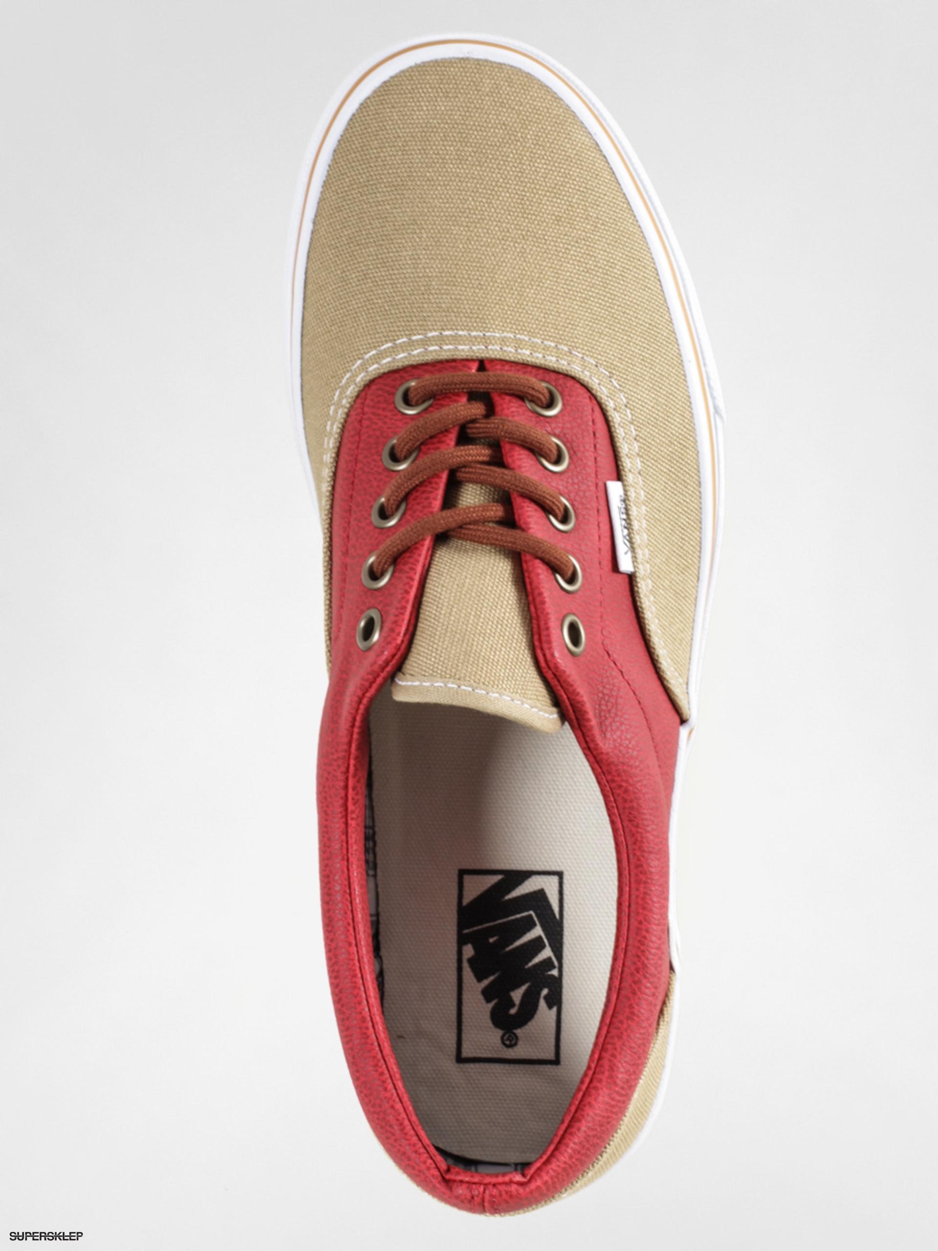 5c6fc02d13 Boty Vans Era (leather quarter khaki red)