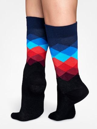 Ponožky Happy Socks Faded Diamond (black/navy/blue/red)