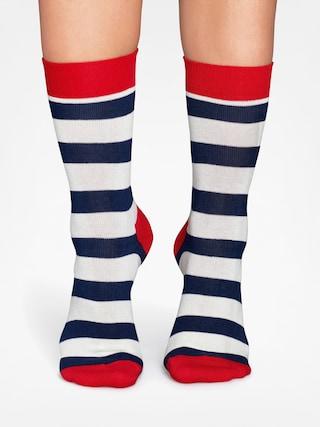Happy Socks Ponožky Stripe (red/navy/crem)