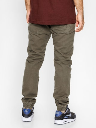 Kalhoty MassDnm Signature Jogger Sneaker Fit (olive green)