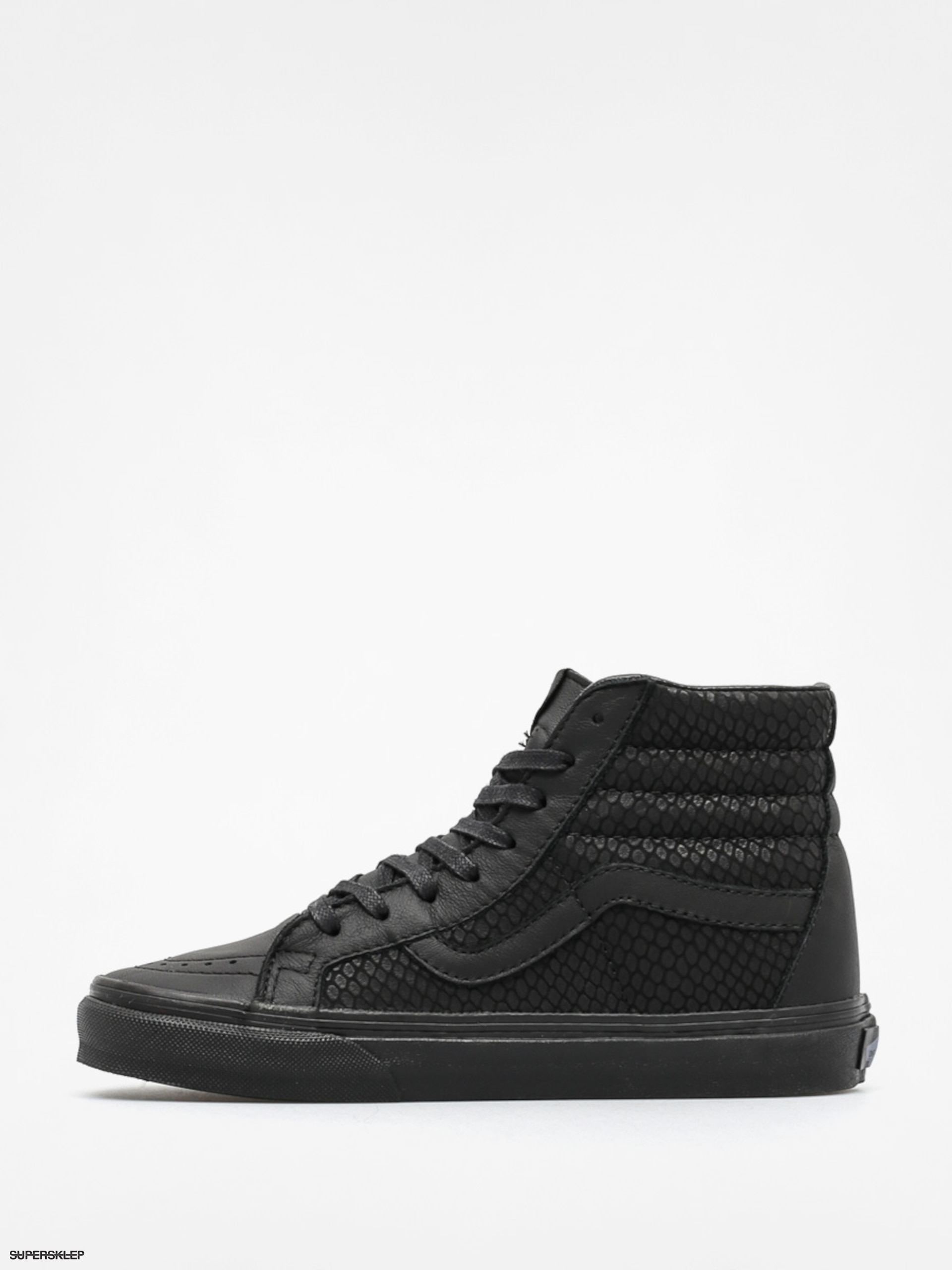 Vans Boty Sk8 Hi Reissue + (snake leather black) 85e07279be2