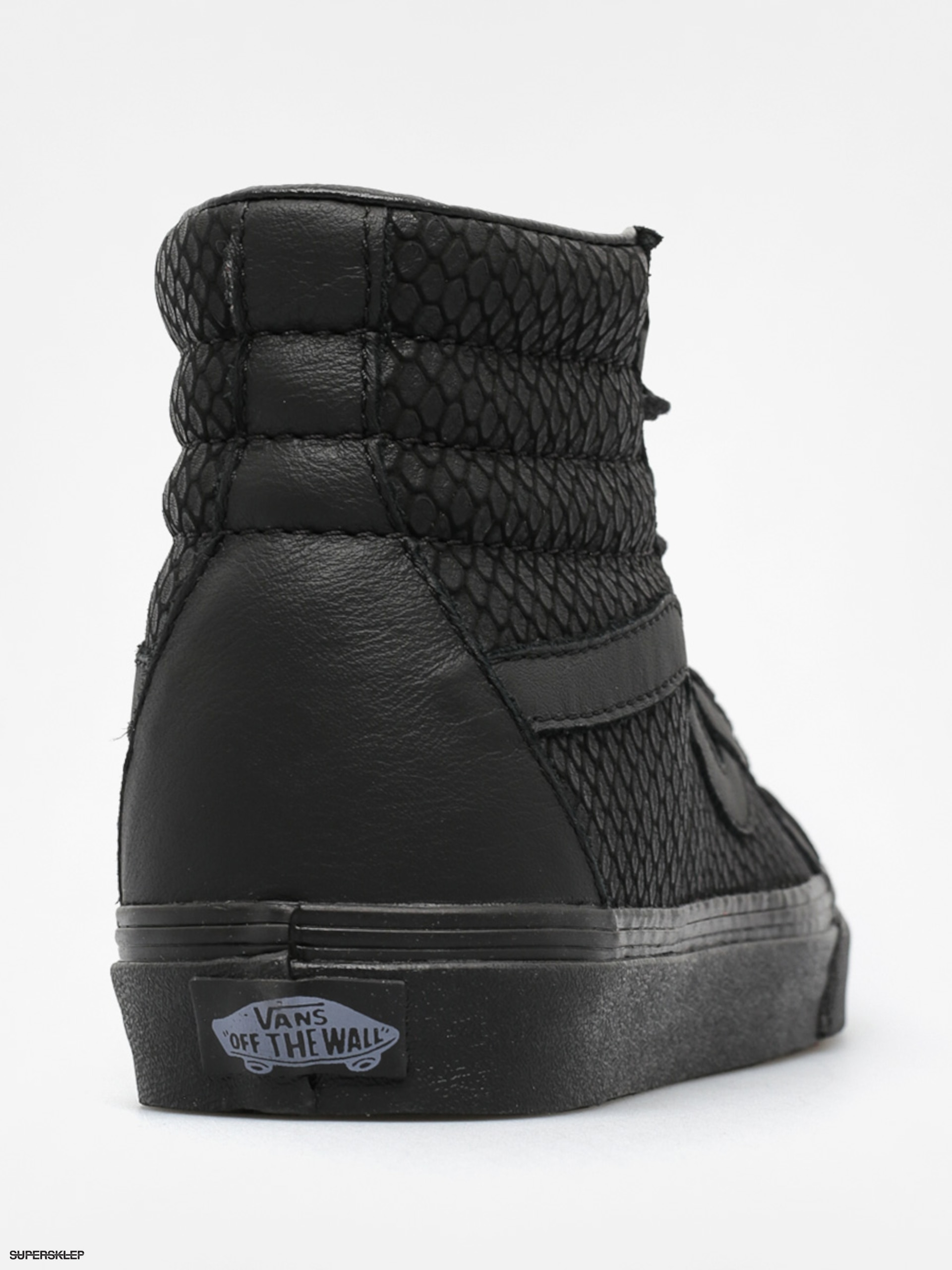 Vans Boty Sk8 Hi Reissue + (snake leather black) 2ca7e762b9e