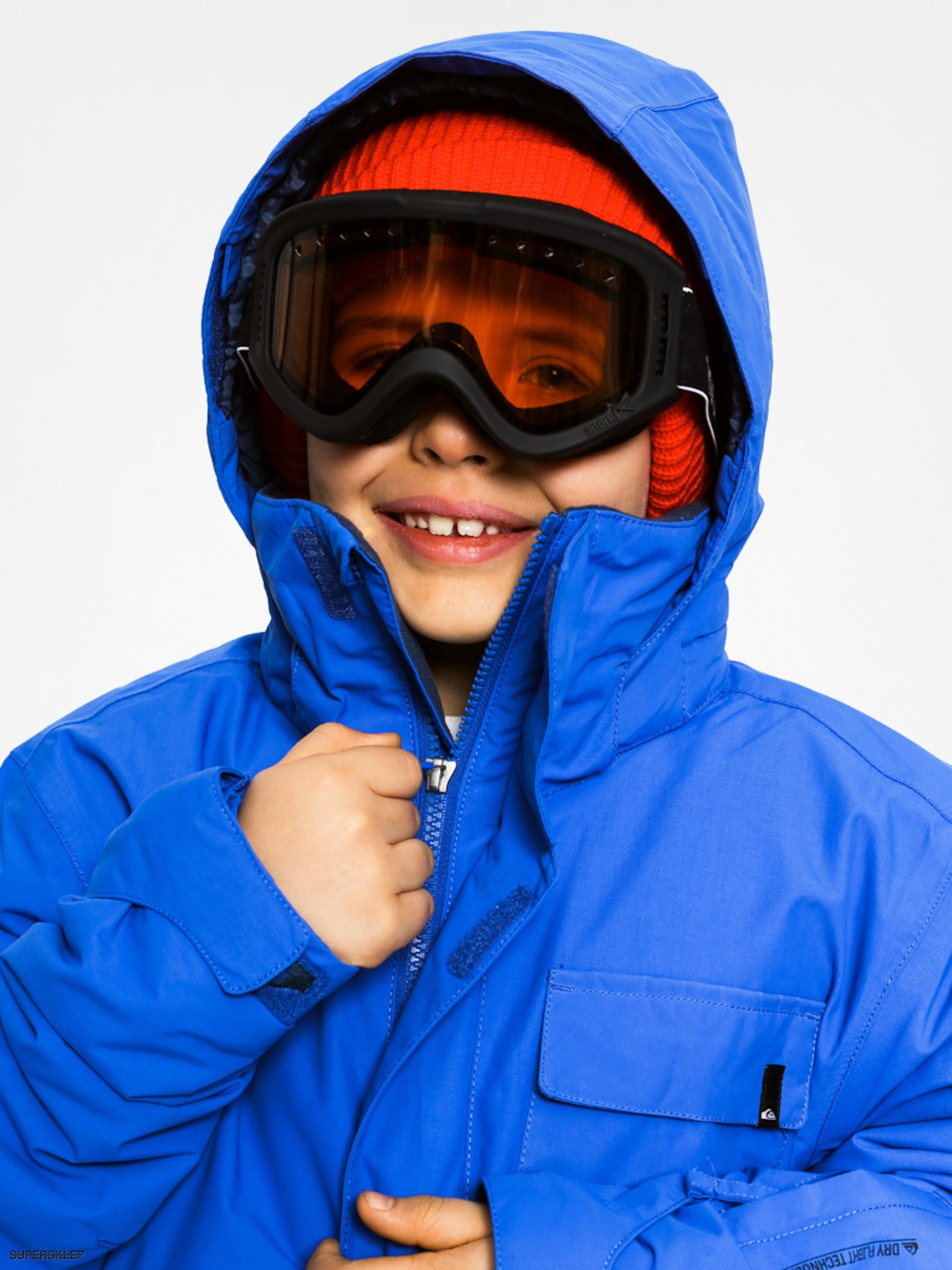 dc219e781b2 Dětská snowboardová bunda Quiksilver Mission Plain (blue)