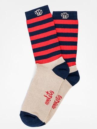 Ponožky Malita Wanted (navy/red)