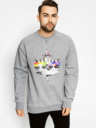 Mikina K1x Glitch Logo Crew (grey heather/multi color)