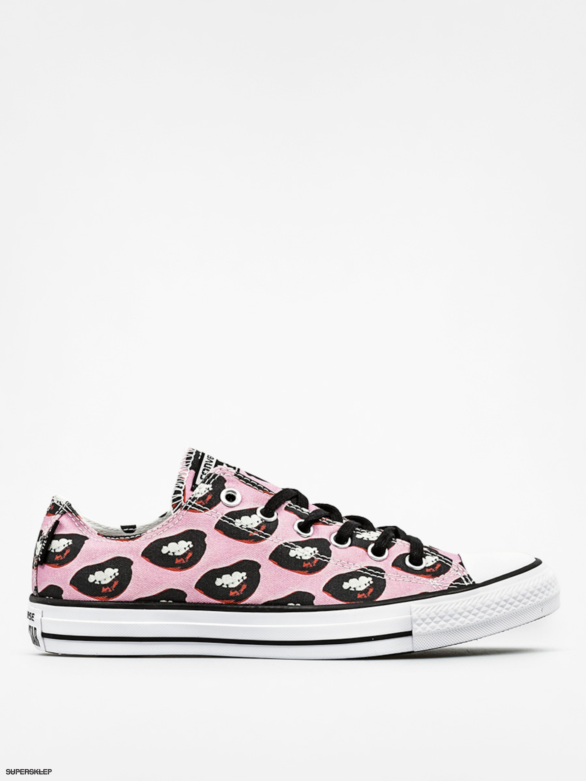 Tenisky Converse Chuck Taylor All Star Ox (white/black/multi pink)