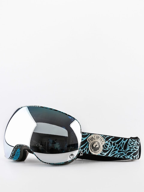 Brýle na snowboard Dragon X2 (pow heads blue/mirror ion/yellow blue ion)
