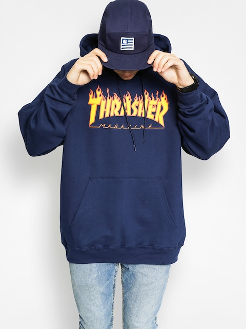 Thrasher Mikina s kapucí Flame HD