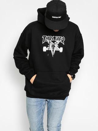 Thrasher Mikina s kapucí Skate Goat HD (black/white)