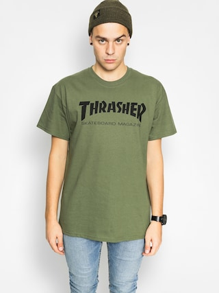 Thrasher Tričko Skate Mag (military green)