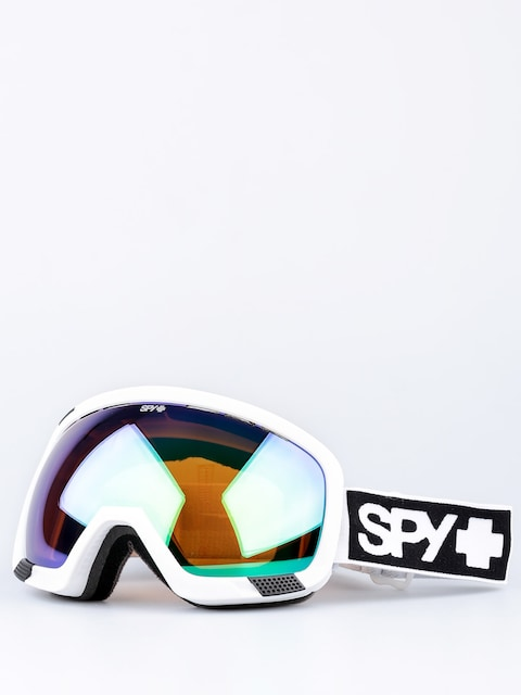 Brýle na snowboard Spy Platoon (mt white/bronze/green spectra/yellow contact)