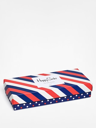 Ponožky Happy Socks Giftbox 4pk (navy/white/red)