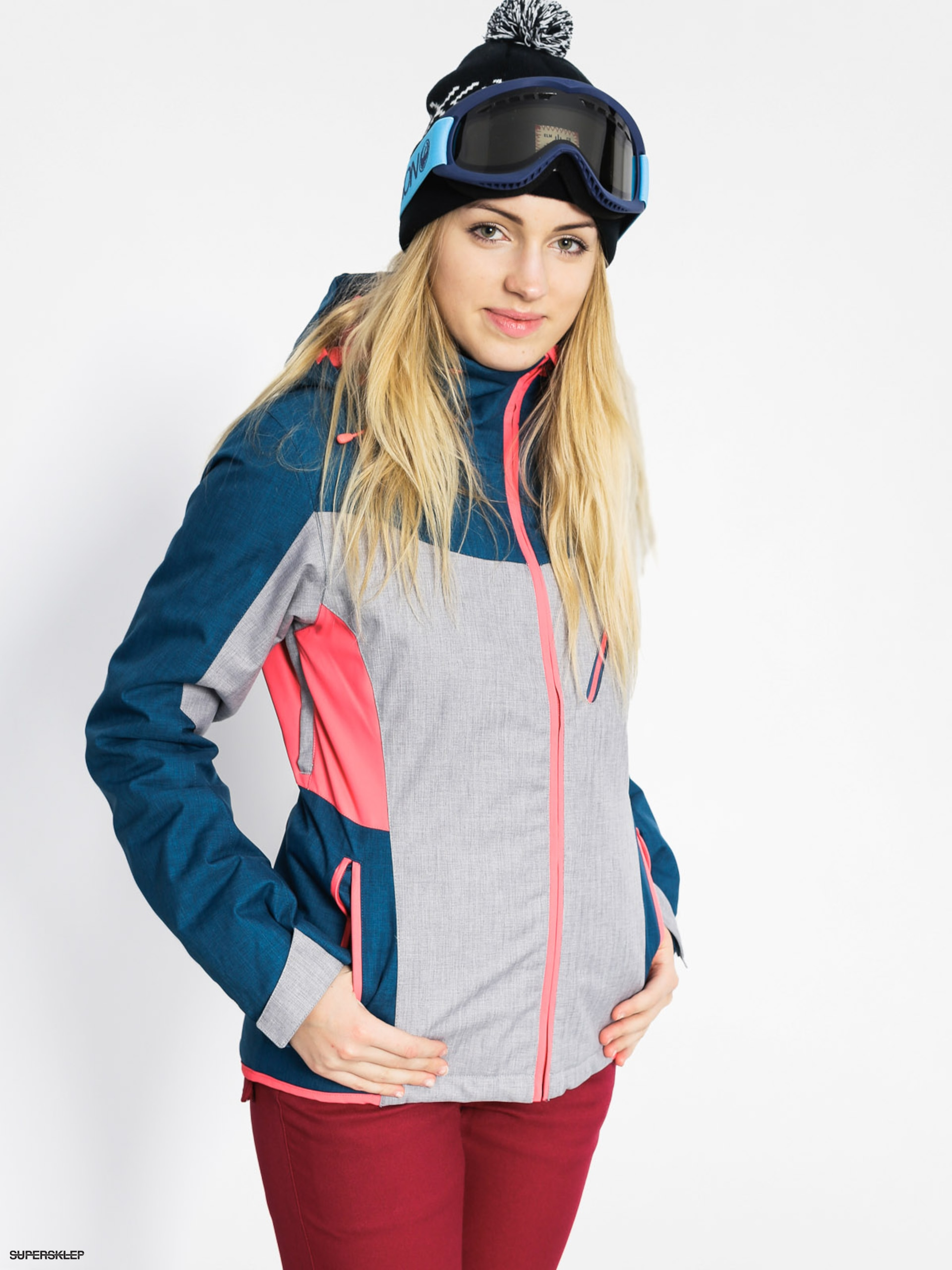 Roxy Snowboardová bunda Sassy Wmn (legion blue/light grey)