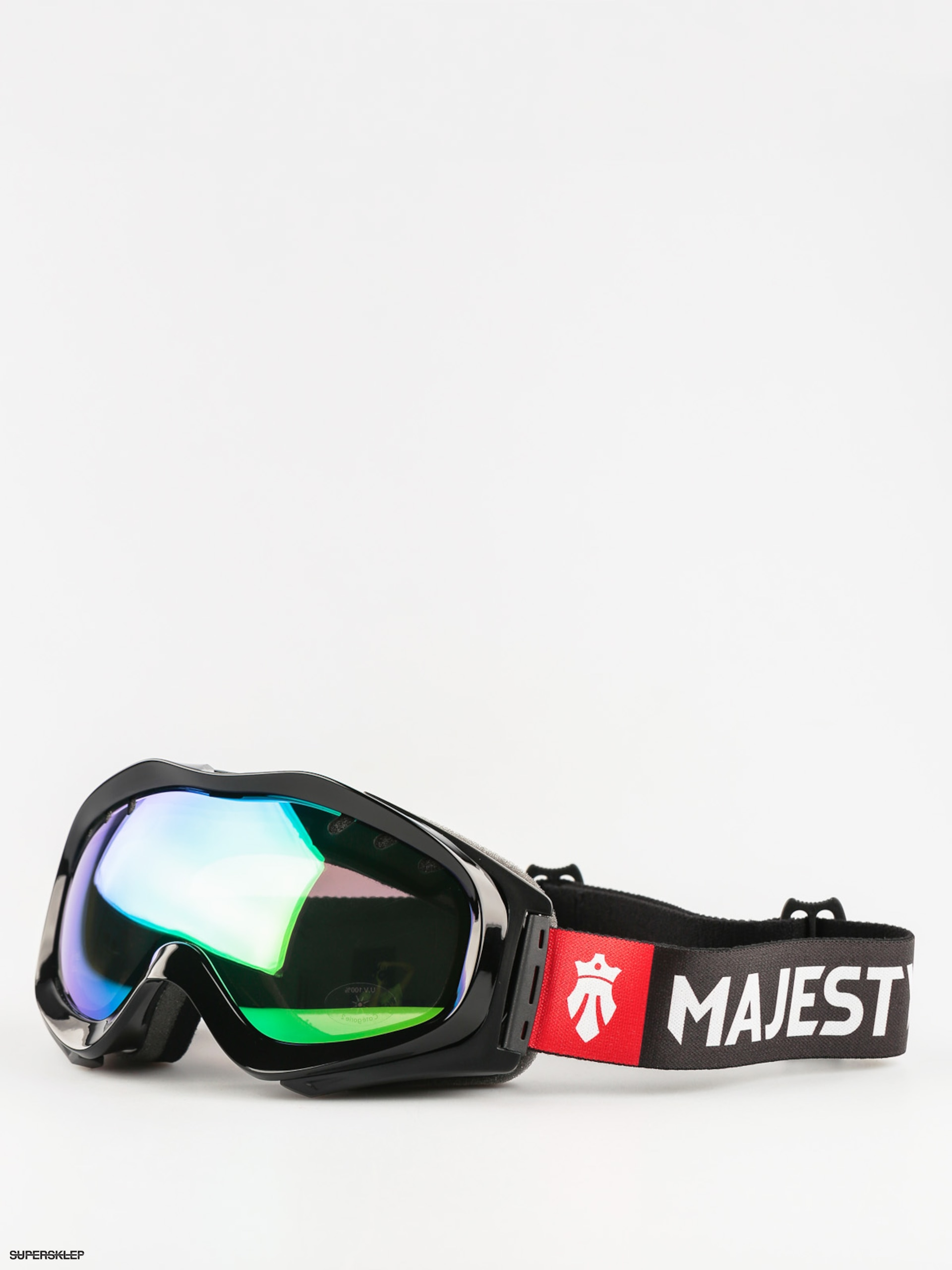 Brýle na snowboard Majesty Patrol (glossy black/green emerald mirror/clear citrine)