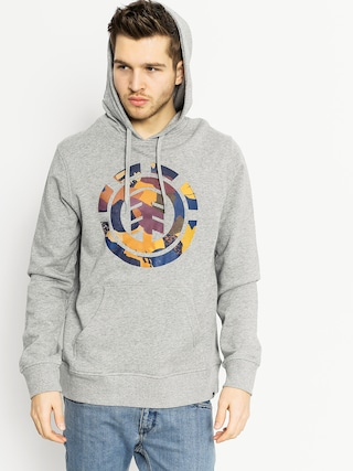 Mikina s kapucí Element Cut Out Icon HD (grey heather)